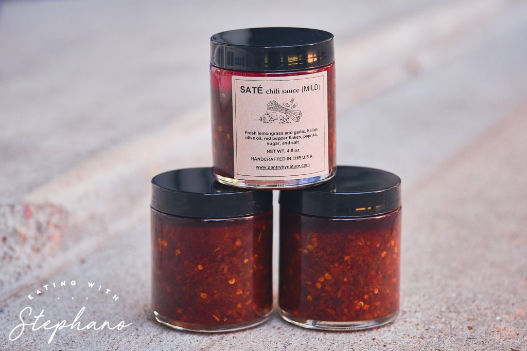 three jars of vietnamese chili oil