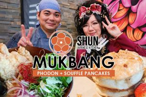 Shun Japanese Kitchen Mukbang Video | Eating Ramen x Pho Fusion and Fluffy Pancakes