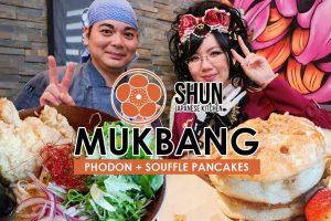 Shun Japanese Kitchen Mukbang Video | Eating Ramen x Pho Fusion and Fluffy Pancakes