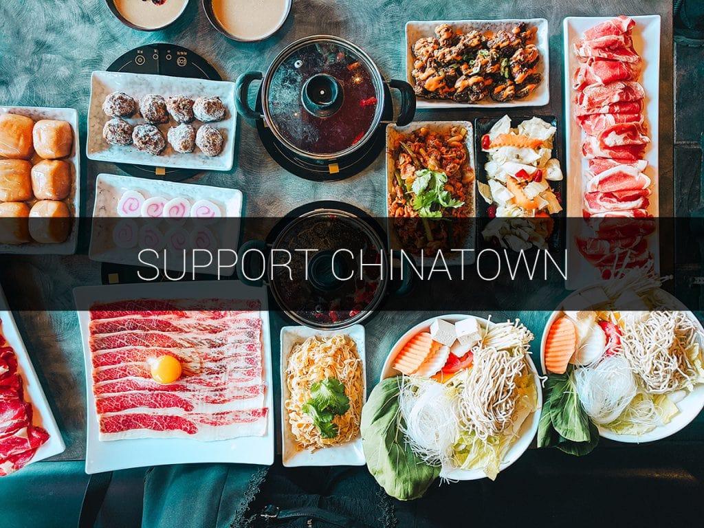 support chinatown banner