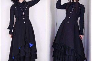 Elegant Gothic Aristocrat Matching Outfits with Akari