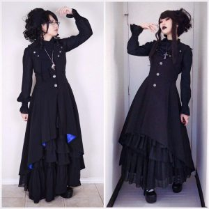 Elegant Gothic Aristocrat Matching Outfits with Akari