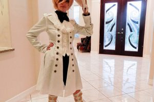 White Ouji Outfit Photoshoot With Rye