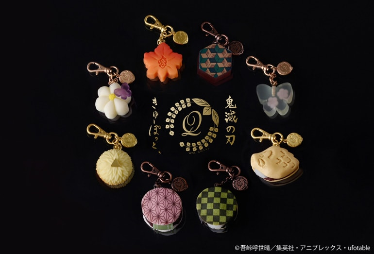 qpot demon slayer kimetsu no yaiba japanese sweets bag charms