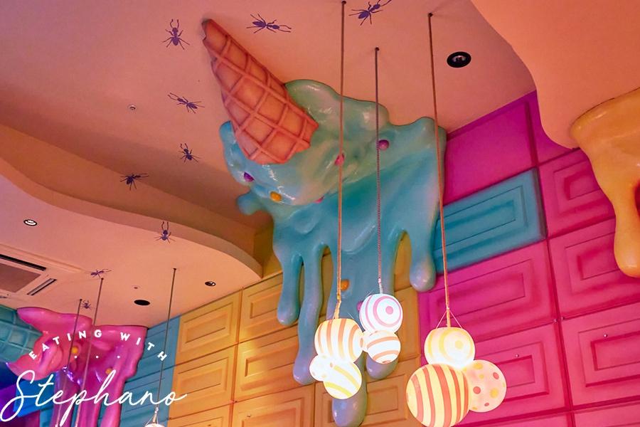 kawaii monster cafe melting ice cream decor