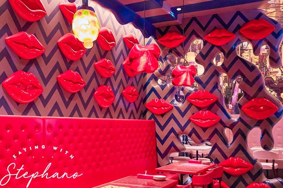 kawaii monster cafe lips room decor