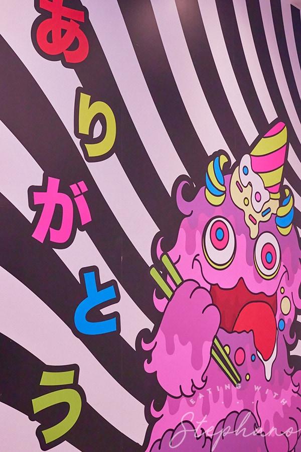 kawaii monster cafe mural