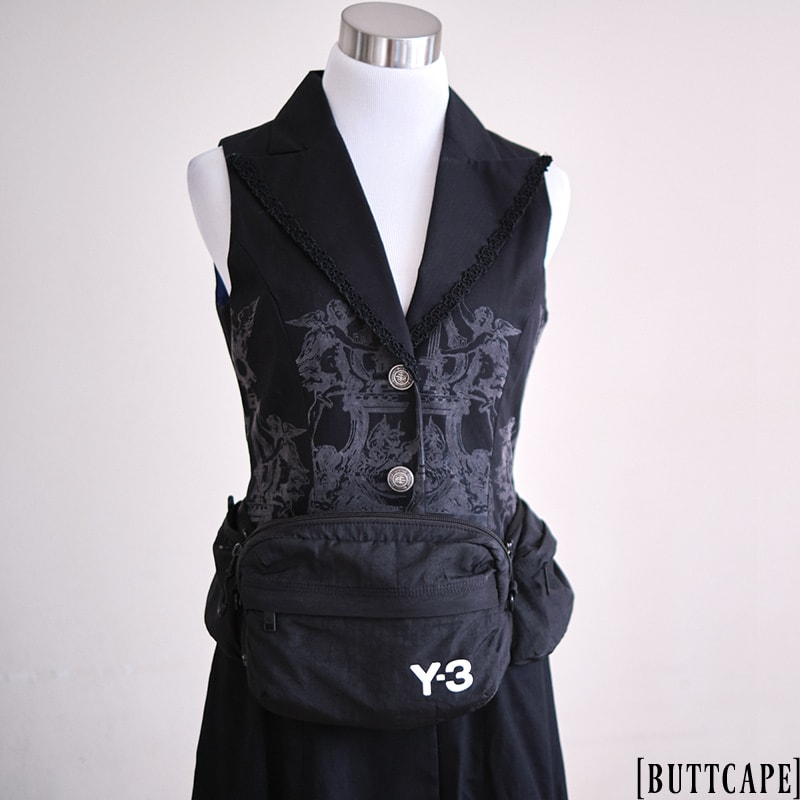 Y-3 waist bag on Moi meme Moitie gilet