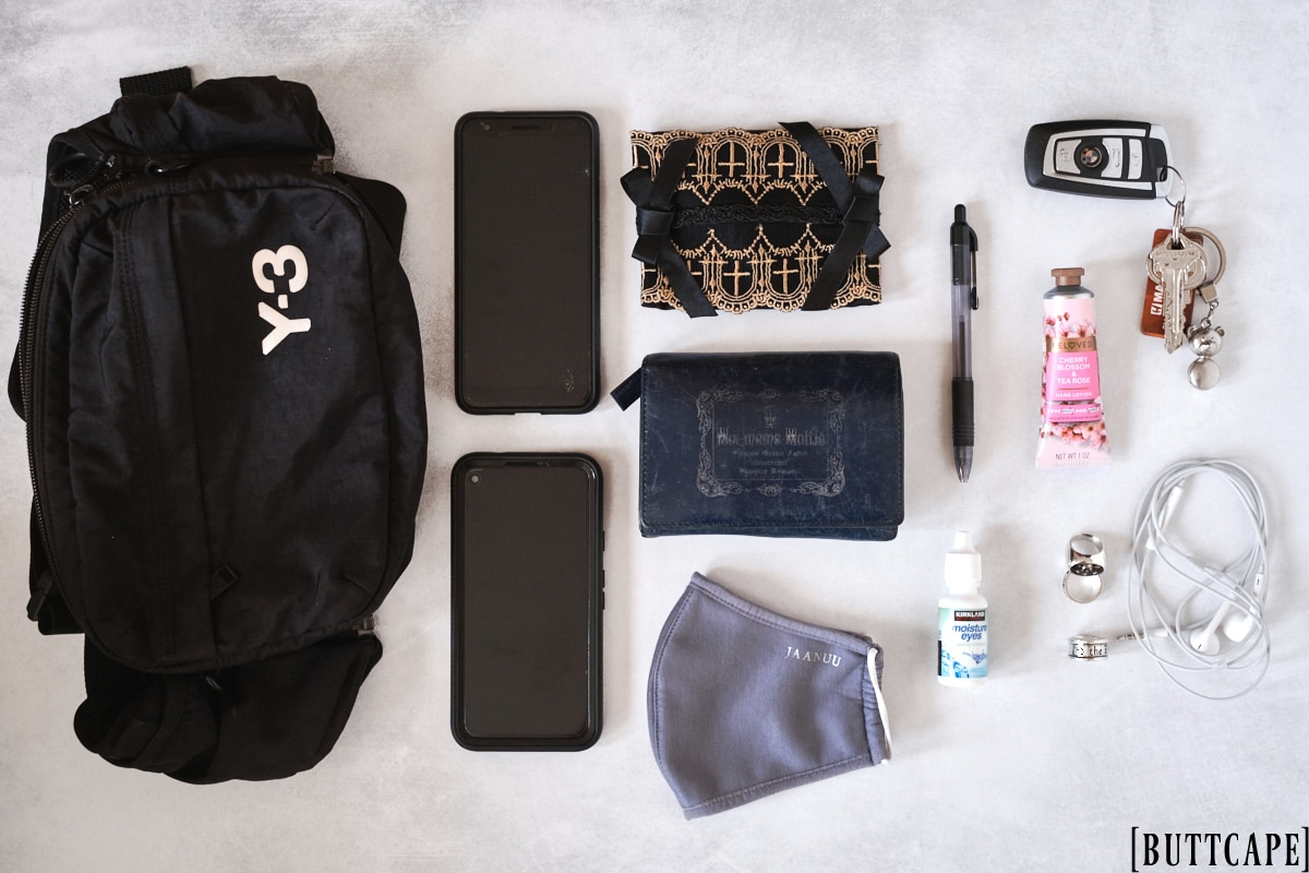 items in my fanny pack/waist bag