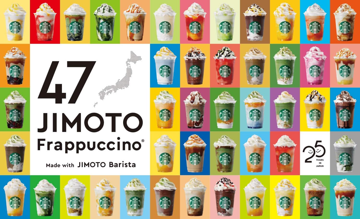 collage of all Jimoto Frappuccinos