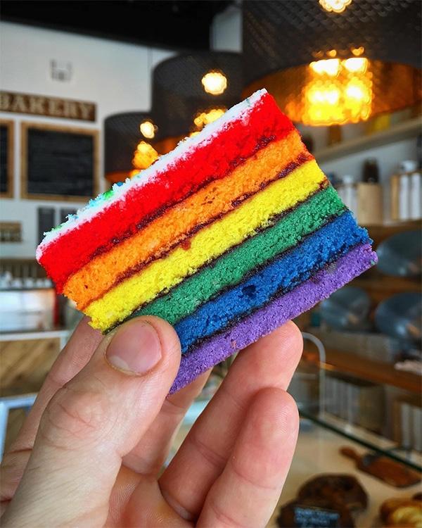 Pride rainbow cookie from La Sicilia