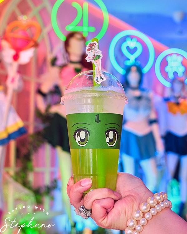 Sailor Jupiter inspired drink
