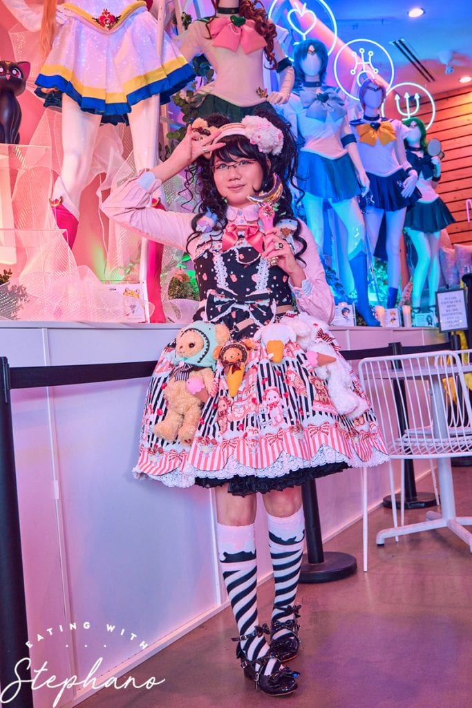 my lolita fashion outfit for Sailor Moon cafe