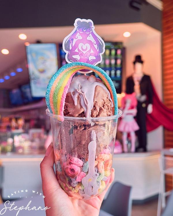 Sailor Moon inspired sundae
