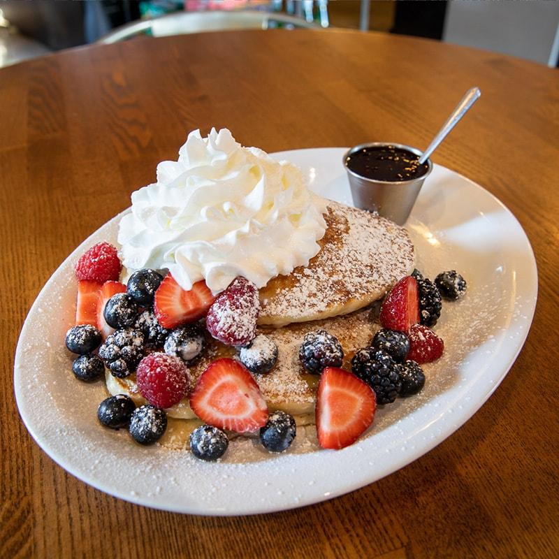 brunch pancakes at Urban Eats