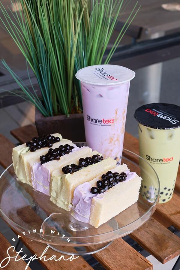 boba sandwich set with drinks