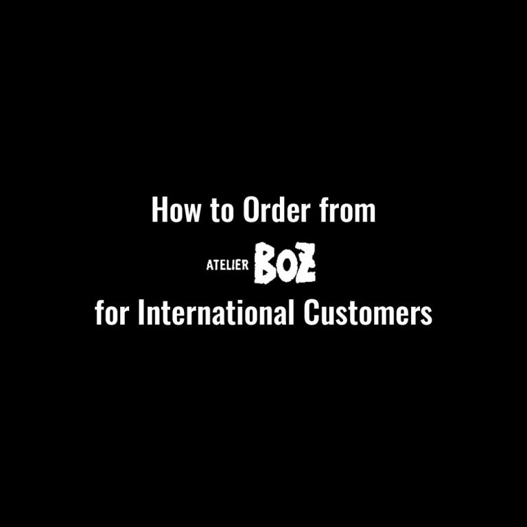 how to order from atelier boz for international customers