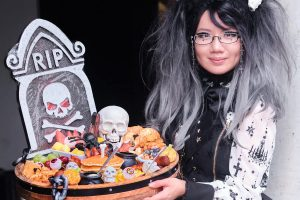 The Brass Tap Halloween Brunch Board + Holy Lantern Outfit